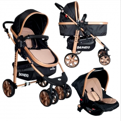 Beneto Bt-540 Gold Travel Sistem Bebek Arabası Puset