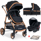 Baby Home Bh-855 Mix Gold Travel Sistem Bebek Arabası + Puset