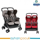 Peg Perego Aria Shopper Twin İkiz Bebek Arabası